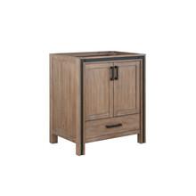 """Lexora Ziva 30"""" Rustic Barnwood Vanity Cabinet Only"""