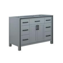 "Lexora Ziva 48"" Dark Grey Vanity Cabinet Only"