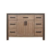 """Lexora Ziva 48"""" Rustic Barnwood Vanity Cabinet Only"""