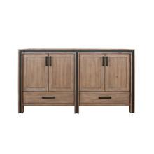 """Lexora Ziva 60"""" Rustic Barnwood Vanity Cabinet Only"""