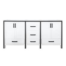"""Lexora Ziva 72"""" White Vanity Cabinet Only"""