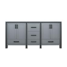 "Lexora Ziva 72"" Dark Grey Vanity Cabinet Only"