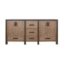 """Lexora Ziva 72"""" Rustic Barnwood Vanity Cabinet Only"""