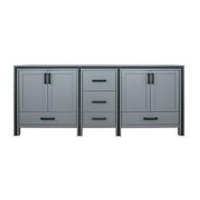"Lexora Ziva 80"" Dark Grey Vanity Cabinet Only"