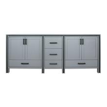 "Lexora Ziva 84"" Dark Grey Vanity Cabinet Only"