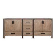 """Lexora Ziva 84"""" Rustic Barnwood Vanity Cabinet Only"""