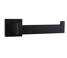 Lexora Bagno Lucido Stainless Steel Toilet Paper Holder - Matte Black