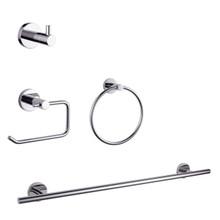 Lexora Bagno Nera 4-Piece Bathroom Accessory Set - Chrome