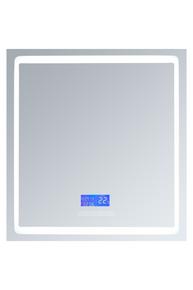 "Lexora Bracciano 30"" Wide x 32"" Tall LED Medicine Cabinet w/ Defogger"