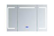 "Lexora Lesina 48"" Wide x 32"" High LED Medicine Cabinet w/ Defogger"
