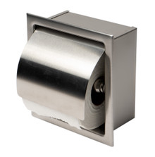 ALFI ABTP77-BSS Brushed Stainless Steel Recessed Toilet Paper Holder with Cover
