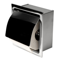 ALFI ABTP77-PSS Polished Stainless Steel Recessed Toilet Paper Holder with Cover