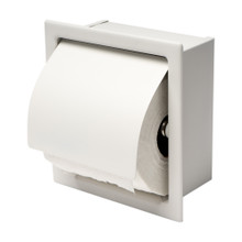 ALFI ABTPC77-W White Matte Stainless Steel Recessed Toilet Paper Holder with Cover