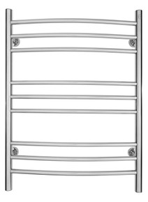 WarmlyYours TW-R09PS-HP Riviera Towel Warmer, Polished, Dual Connection, 9 Bars