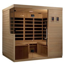 Golden Designs La Sagrada 6 Person Ultra Low EMF FAR Infrared Sauna