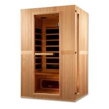 Golden Designs Maxxus Serenity Dual Tech 2 person Low EMF FAR Infrared Sauna - Canadian Hemlock