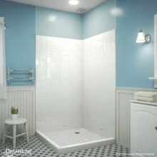 DreamLine QWALL-VS 41-1/2 in. W x 41-1/2 in. D x 76 in. H Acrylic Corner Backwall Kit in White