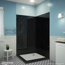 DreamLine QWALL-VS 41-1/2 in. W x 41-1/2 in. D x 76 in. H Acrylic Corner Backwall Kit in Black