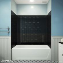 DreamLine QWALL-VS 56-60 in. W x 36 in. D x 62 in. H Acrylic Backwall Kit in Black