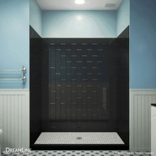 DreamLine QWALL-VS 56-60 in. W x 41-1/2 in. D x 76 in. H Acrylic Backwall Kit in Black