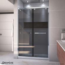 DreamLine Encore 44-48 in. W x 76 in. H Semi-Frameless Bypass Sliding Shower Door in Chrome and Gray Glass