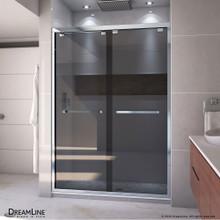 DreamLine Encore 50-54 in. W x 76 in. H Semi-Frameless Bypass Sliding Shower Door in Chrome and Gray Glass