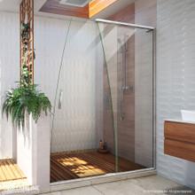 DreamLine Crest 58-60 in. W x 76 in. H Clear Glass Frameless Sliding Shower Door in Chrome