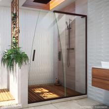 DreamLine Crest 58-60 in. W x 76 in. H Clear Glass Frameless Sliding Shower Door in Oil Rubbed Bronze