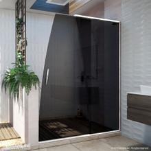 DreamLine Crest 58-60 in. W x 76 in. H Smoke Gray Glass Frameless Sliding Shower Door in Chrome