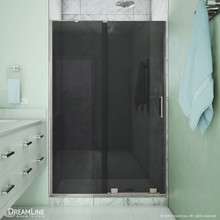 DreamLine Mirage-X 44-48 in. W x 72 in. H Frameless Sliding Shower Door in Brushed Nickel