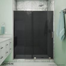 DreamLine Mirage-X 56-60 in. W x 72 in. H Frameless Sliding Shower Door in Brushed Nickel