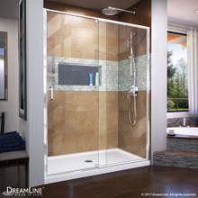DreamLine Flex 50-54 in. W x 72 in. H Semi-Frameless Pivot Shower Door in Chrome