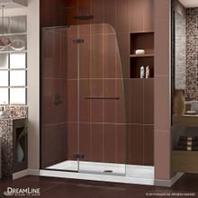 DreamLine Aqua Ultra 45 in. W x 72 in. H Frameless Hinged Shower Door in Oil Rubbed Bronze