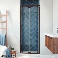 DreamLine Butterfly-S 30-31 1/2 in. W x 74 in. H Semi-Frameless Sliding Bi-Fold Shower Door in Oil Rubbed Bronze