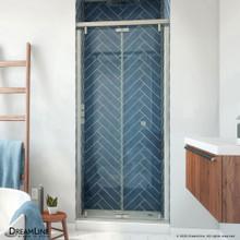 DreamLine Butterfly-S 34-35 1/2 in. W x 74 in. H Semi-Frameless Sliding Bi-Fold Shower Door in Brushed Nickel