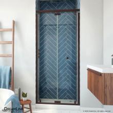 DreamLine Butterfly-S 34-35 1/2 in. W x 74 in. H Semi-Frameless Sliding Bi-Fold Shower Door in Oil Rubbed Bronze