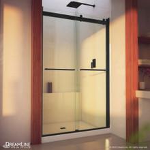 DreamLine Essence-H 44-48 in. W x 76 in. H Semi-Frameless Bypass Shower Door in Satin Black
