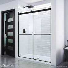 DreamLine Essence 56-60 in. W x 76 in. H Frameless Bypass Shower Door in Satin Black