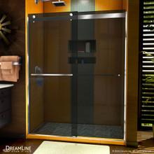 DreamLine Sapphire 56-60 in. W x 76 in. H Semi-Frameless Bypass Shower Door in Chrome and Gray Glass