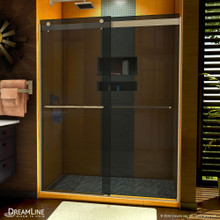 DreamLine Sapphire 56-60 in. W x 76 in. H Semi-Frameless Bypass Shower Door in Brushed Nickel and Gray Glass