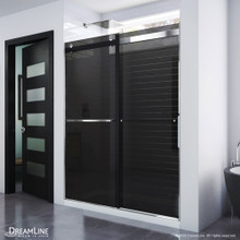 DreamLine Essence 56-60 in. W x 76 in. H Frameless Smoke Gray Glass Bypass Shower Door in Chrome