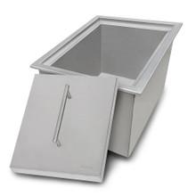 Ruvati Insulated Ice Chest Sink 15 x 20 inch Outdoor BBQ Marine Grade T-316 Topmount Stainless Steel - RVQ6215