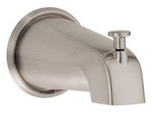 "Danze D606225BN 5 1/2"" Wall Mount Tub Spout With Diverter - Brushed Nickel"