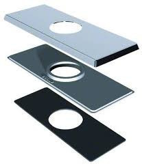 "Danze DA607568BN 4"" Centerset Square Deck Cover Plate - Brushed Nickel"
