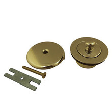 Kingston Brass DLT5301A2 Lift And Turn Tub Drain Kit - Polished Brass