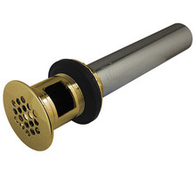 Kingston Brass KB5002 Solid Grid Drain With Overflow - Polished Brass