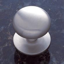 "JVJ 35446 Satin Nickel 1 1/2"" Plymouth Door Knob With Back Plate"