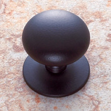 """JVJ 35420 Oil Rubbed Bronze 1 1/2"""" Plymouth Door Knob With Back Plate"""