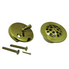 Kingston Brass DTL5305A2 Grid Tub Drain Kit - Polished Brass