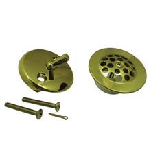 Kingston Brass DTL5305A2 Grid Tub Drain Kit - Polished Brass